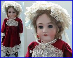 Vintage Toys Rebecca Antique Bisque Doll Approx. 24 Inches High
