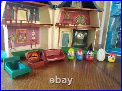 Vintage Weebles Haunted House with Original Box Figures Furniture Halloween 1976
