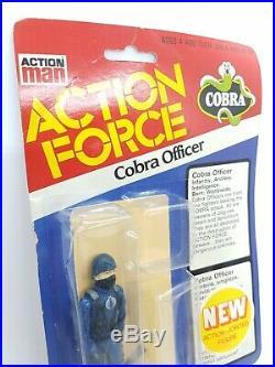 Vintage gi joe action force COBRA ENEMY OFFICER toy figure moc HASBRO rare