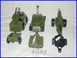 Vintage lot of RARE REMCO 1965 Li'l Soldier Joe Figures & Equipment & Vehicles