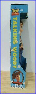 Vintage1995 Disney's Toy Story 1 Talking Woody Figure Pull String Thinkway 62943