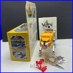 Voltron action figure panosh place world event vtg toy box nib Yellow Lion chunk