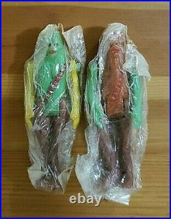 Vtg 80s Bootleg Star Wars Boba Fett Han Solo Articulated Toy Figure Lot Mexico
