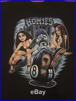 Vtg 90s Little Homies Figures Toys Hip Hop Rap Tee Sz L David Gonzalez