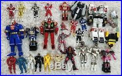 Vtg Bandai Power Rangers Action Figures Huge Lot Toys Mighty Morphin Warriors