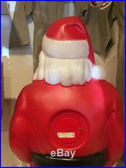 Vtg. Empire 46 Santa Claus Christmas Lighted Blow Mold Toy Sack