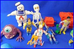 Vtg Lot of The Real Ghostbusters Toys- 27 Figures/Ghosts, Ecto-1, Fire Station