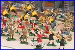 Vtg Marx KNIGHTS & VIKINGS Miniature Play Set w Handpainted Figures, Castle MORE