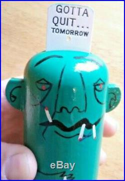 Vtg PRIDE CREATIONS popsie toy figure gotta quit. Tomorrow #37 cigarettes