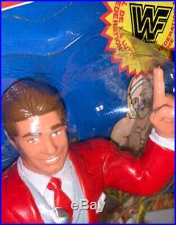 WWF LJN Vince McMahon Wrestling Figure MOC NEW 80s 1988 Rubber Grand Toys Vtg