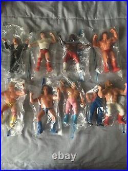 WWF Wrestling Figures LJN Superstars 1980s Vintage Toy Lot of (9) Wrestlers