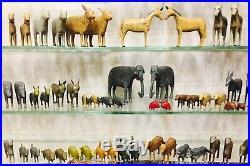 Wooden Erzgebirge Noah's ark 19th century, 256 animals, birds, figures, folk art