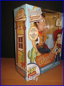 Woody's Roundup Talking Figure Toy Story Collection Vintage Thinkway Toys NEW